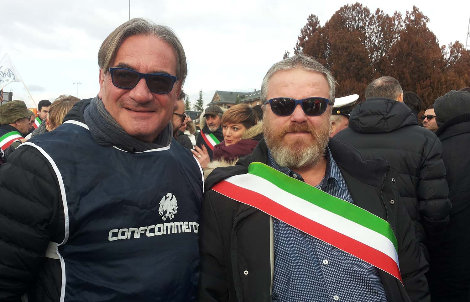 A sinistra, Celso Cioni